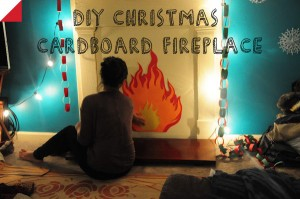 DIY CARDBOARD CHRISTMAS FIRE